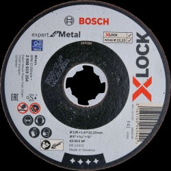 DISQUE A TRONCONNER XLOCK METAL 125X1.6 PLAT BOSCH