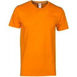 TSHIRT SUNRISE COTON ORANGE T:L